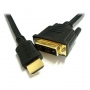 Konoos KC-HDMI-DVI-1.8, Кабель HDMI-DVI, 1.8м, 19M/19M, single link, черный, экран, позол.разъемы