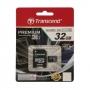 32GB Transflash (MicroSD) Transcend TS32GUSDU1 UHS-I CL10, + microSD--> SD Adapter