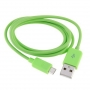 Кабель CBR Human Friends Super Link Rainbow C Green, 30-pin to USB, 1м, для Iphone 3G3Gs44s, iPad