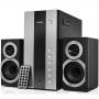Sven SV-01301090BK, Колонки 2.1 SVEN АС MS-1090, 2*11+18Вт, USB/SD, ПДУ, черный