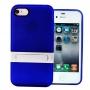 Накладка с подставкой для iPhone 4/4S синий