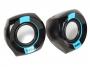 Sven SV-013509, Колонки 2.0 SVEN 150, 2*2.5Вт (RMS), USB, чёрный-синий