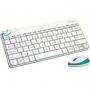 Logitech MK240 White, cordless, USB Комплект (920-005791)