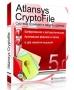 Atlansys CryptoFile, картонная коробка, 1 ПК, 1 год + казуальная игра в подарок