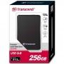 "Transcend, TS256GESD400K, Transcend SSD USB 3.0, 256GB 1.8"" ESD400 External Mobile, Black"