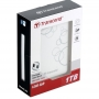 "Transcend, TS1TSJ25A3W, Transcend USB3.0 1TB StoreJet 2.5"" A Series White (With one touch backup)"