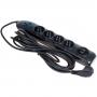 Сетевой фильтр  Floston Power Surge Protector (4 outlets, auto, 2*USB 3.0 М) черный