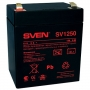 Sven SV-0222005, Battery SVEN SV 1250 (12V 5Ah), 12V voltage, 5A*h capacity, max. discharging rate o