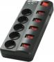 Сетевой фильтр Sven Fort 5m, 5 розеток отдельный выключатель на каждую розетку