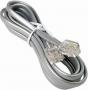 Телефонный кабель четырехпроводный многожильный, белый (1м)