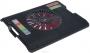 "STM IP12 Black, Подставка для ноутбука STM IP12 Black (17"", 1x(180x180), Black plastic+Red Fan)"