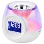 Светильник декоративный ЭРА W-UP-E5, Функция «АРОМА» - Часы и календарь - Подсветка экрана - Стильны