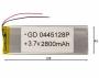 АКБ универсальная China GD 0445128p 4,0x45x128mm 3,7v 3000 mAh на проводках
