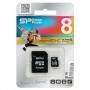 .8GB Transflash (MicroSDHC) Silicon Power Class 10 + SD адаптер